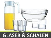 Gläser & Stapelschalen