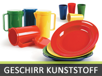 Geschirr aus Kunststoff