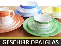 Geschirr aus Opalglas