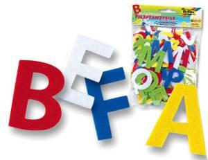 Filzstanzteile Buchstaben   150er Set