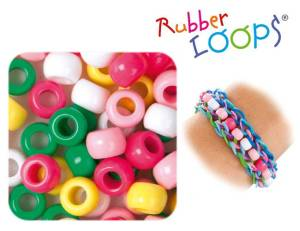 Rubber Loops® Perlen farbig 100er Set