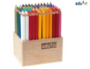 edu3 Prime Jumbo hexagonal   96 Buntstifte im Holzaufsteller