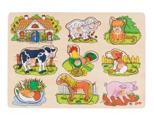 Soundpuzzle Tierstimmen Bauernhof 8-teilig