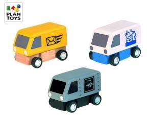 PlanToys Lieferwagen 3er Set