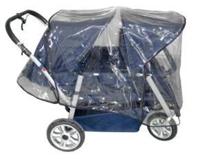 Kindertransportwagen - Buggy Krippe (6 Sitze) | Regenschutz