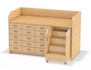 wickelkommode mit treppe und 15 sch ben. Black Bedroom Furniture Sets. Home Design Ideas