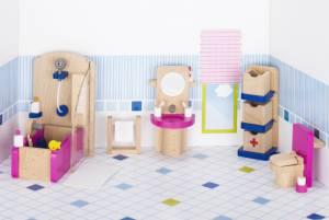 Puppenhaus-Möbelset klassisch | Badezimmer 22-teilig (Einzelstück)
