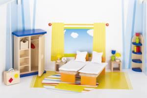 Puppenhaus-Möbelset klassisch | Schlafzimmer 21-teilig