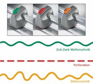 Roll- und Schnitt-Schneidemaschine 507 - Deko Schneideköpfe