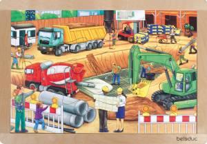 Rahmenpuzzle Baustelle