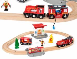 BRIO Feuerwehr - Bahn Set