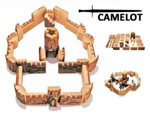 Baumscheiben-Bausteine - Ritterburg Camelot