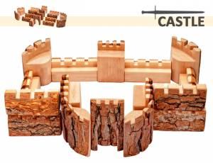 Baumscheiben-Bausteine - Ritterburg Castle