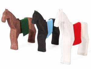 Holzfiguren Ritterpferde | 3-teilig