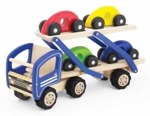 pintoy Autotransporter mit 4 Autos