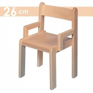 Simeon Kindergartenstuhl mit Armlehne | Sitzhöhe 26 cm