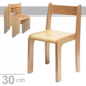 Stapelstuhl Alexander, Sitzhöhe 30 cm - Kindergartenstühle