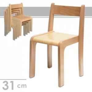 Stapelstuhl Alexander, Sitzhöhe 31 cm - Kindergartenstühle
