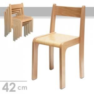 Stapelstuhl Alexander, Sitzhöhe 42 cm