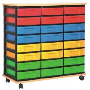 Materialcontainer mit 24 flachen Schüben