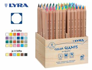 Lyra Farbriesen® Natur Holzaufsteller | 96er Display