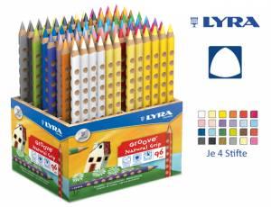 Lyra Groove Natural Grip | Holzaufsteller mit 96 Stiften