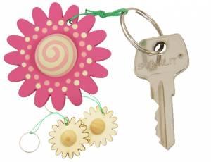 Schlüsselanhänger Blume 2er Set