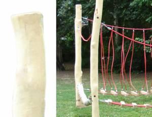 Seil- und Klettergarten - Standpfosten aus Robinie