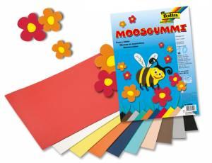Moosgummi 29 x 40 cm - 10 Bogen in verschiedenen Farben