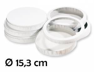 Käseschachteln Ø 15,3 cm (für 10 Laternen)