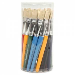 Kinderpinsel - Flachpinsel 30er Set