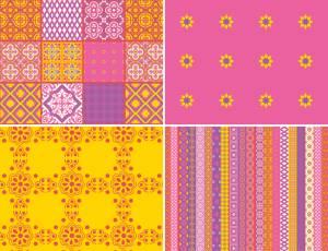 Decoupage Papier 25 x 35 cm - Harmonie in Pink (Einzelstück)