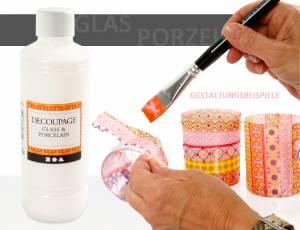 Decoupage Lack - Für Glas und Porzellan | 250 ml