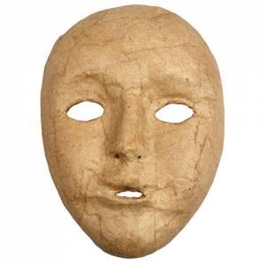 Pappmaché Maske - 12,5 x 17,5 cm