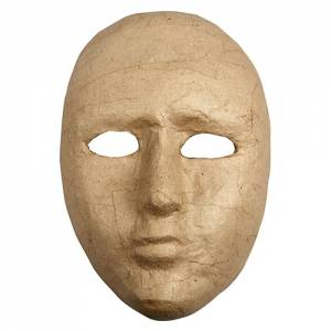 Pappmaché Maske - 16,0 x 23,0 cm