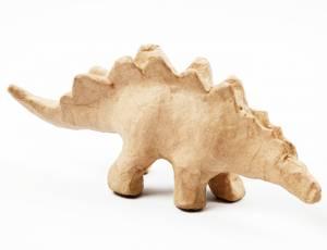 Pappmaché Tierfigur - Dinosaurier Stegosaurus