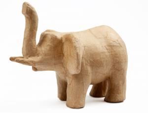 Pappmaché Tierfigur  Elefant