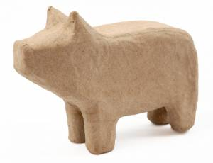 Pappmaché Tierfigur - Schwein