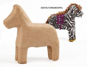 Pappmaché Tierfigur - Pferd