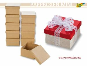 Pappboxen Mini 10er Set - Eckig