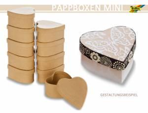 Pappboxen Mini 10er Set - Herz
