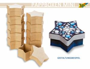 Pappboxen Mini 10er Set - Stern
