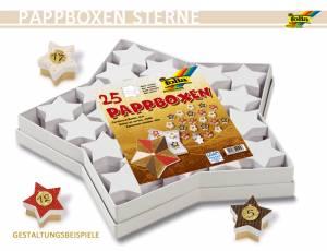 Pappboxen Sterne 25-teilig