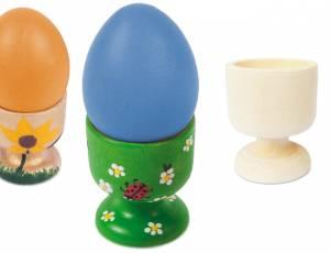 Eierbecher aus Holz   5er Set