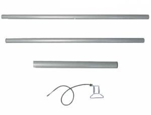 Sonnensegel Zubehör - Stahlmast 3,0 m | 5-teiliges Set
