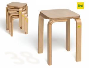 Erzi Stapelhocker Fritz | Sitzhöhe 38 cm