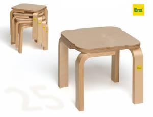 Erzi Stapelhocker Fritz | Sitzhöhe 25 cm