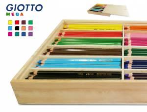 Giotto Mega Hex Holzbox   144 Sechskantstifte