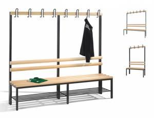 Garderobenbank einseitig | Sitzhöhe 42 cm