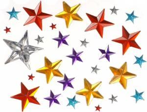 Glitzersteine Aufkleber Sternchen 50-teilig